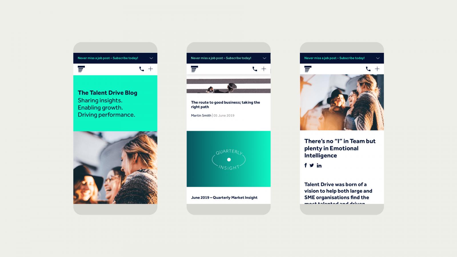 Mobile responsive blog website design