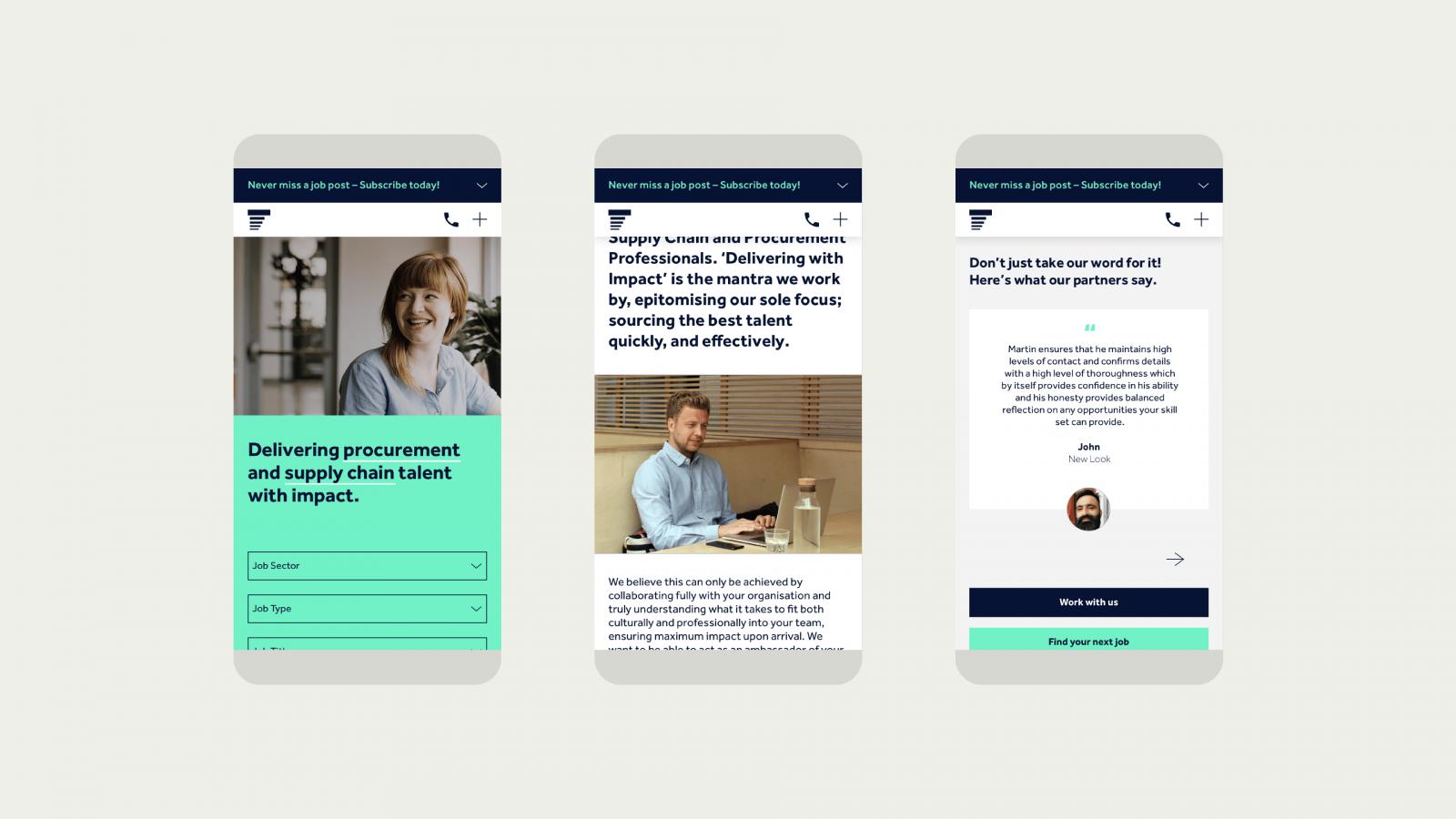 Responsive branding & website design